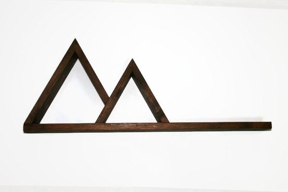 Geometric Triangle Shelf Mountain Peak By Appalachianartisans