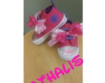 Rhinestone Converse Baby Shoe