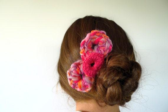 Horquillas para el pelo color coral Adornos para el pelo hechos a mano para mujer Decoraciones