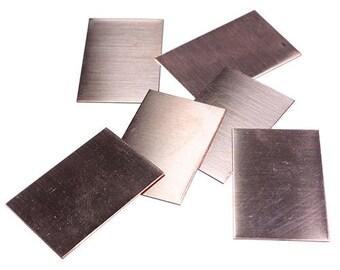 """Copper Shape Rectangle 1"""" x 1-1/2""""  (24ga) Pkg of 6  (MSC36324)"""