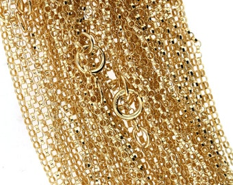 14K Gold Filled 1.3mm ROLO Chain 16 or 18 or 20 or 22 or 24 inches Finished GF Chain with Spring Clasp