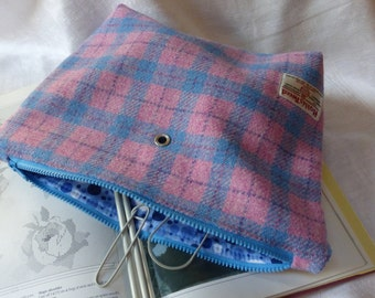Harris Tweed Knitting/Crochet Project Bag