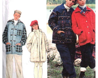 Simplicity Sewing Pattern 9976 Girls and boys set of lined jackets  Size AA 7-8-10  Used