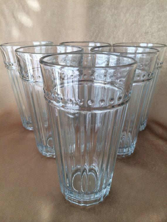Anchor Hocking Glass Isabella Pattern Modern 16 Oz Tumbler