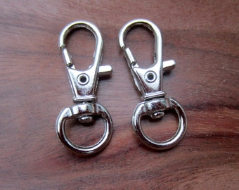 Swivel Clips for Lanyards or Key Chains  Silver Color