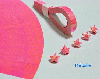200 Strips Pink Color Mini Size Lucky Stars Origami Paper Kits. 24.5cm x 1.0cm. (AV paper series). #SPK-110.