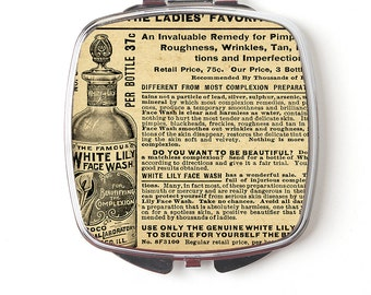 Vintage Perfume Ad Compact Mirror - Vintage Art Compact Makeup Mirror - Vintage Ad Purse Mirror