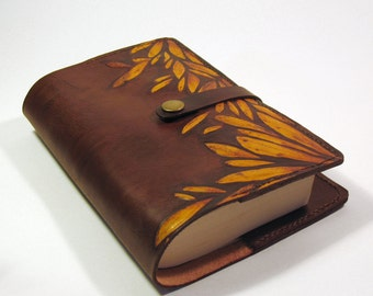 embossed leather pocket book/ sketch book/note book cover