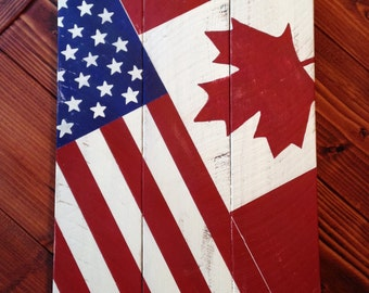 American and Canadian Flag/Flag combo