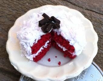 Miniature red velvet cake