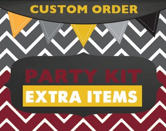 Custom Printable Party Collection - EXTRA ITEMS