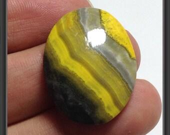 Yellow Jasper Cabochon 27x20x5mm