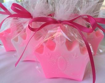 Princess Crown Soap - Princess Party Favors - Set of 10 Princess Crown Soaps - Princess Birthday Favors - Crown Soap Favors - Pagent Favors