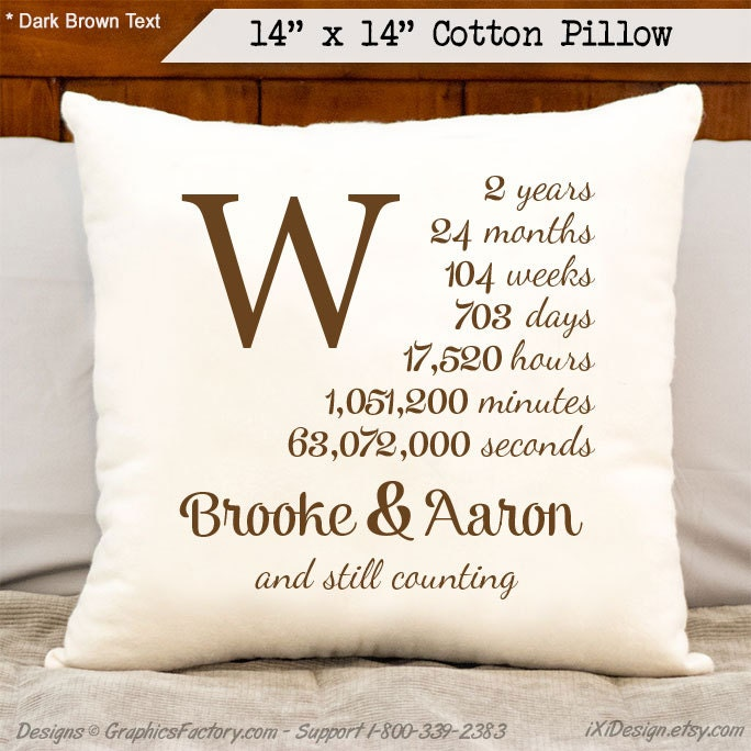 Gifts For Second Wedding Anniversary: 2nd Anniversary Cotton Gift Personalized Anniversary By