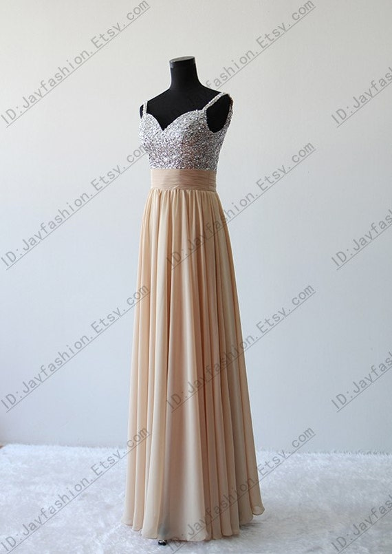 Sequin Bridesmaid Dress,Champagne Bridesmaid Dress,Mint Grey Bridesmaid Dress,Sexy Long Chiffon Sequin Evening Prom Dress,Bridesmaid Dress