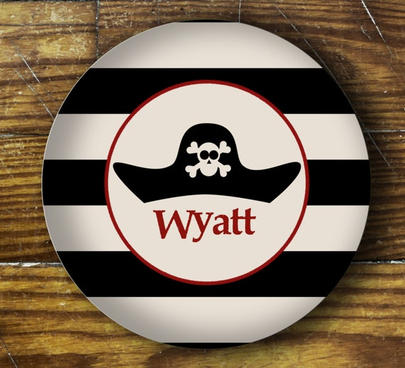 Personalized Dinner Plate or Bowl - Wyatt