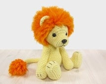 PATTERN: Lion - Amigurumi lion pattern - Crochet tutorial with photos (EN-036)