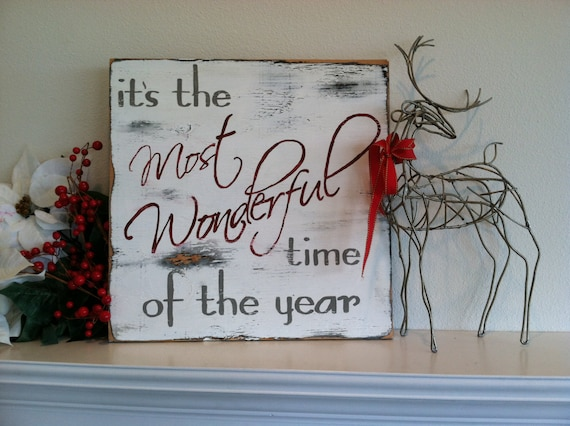 16x16 Hand Painted Wood Christmas Sign Its The Most