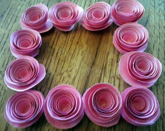 Paper Roses Set of 25 Paper Flowers Your Choice of Color!