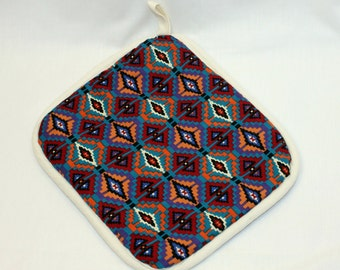 Southwest Pot Holder/Hot Pads - Turquoise item - Very Thick-  Kitchen/Housewares Item - Gift under 15