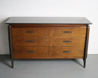 ON SALE Mid Century John Van Koert Projection by Drexel 6 Drawer Dresser / Changing Table