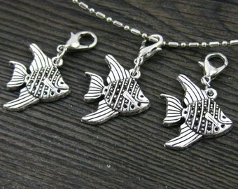 1 pc. Angel Fish Dangle for Bracelets, Floating Charm Pendants, Necklaces & Keychains  D031