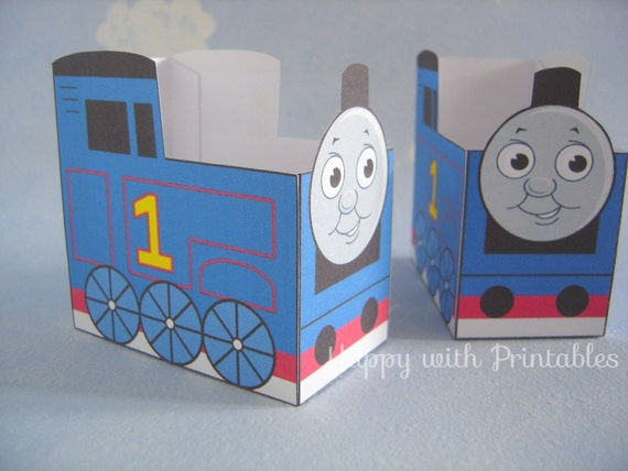 Printable Thomas The Train Party Favor By Happywithprintables