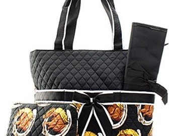 Quilted Horse 3pc Diaper Bag Se