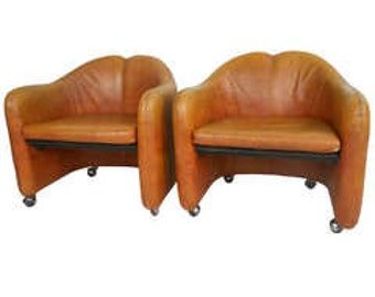 Two Mid century Vintage Italian Chairs by Gerli and Borsani for Tecno