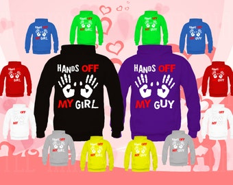 Couple matching Hoodies (Hands off my Girl, Hands off my Guy) sweatshirts