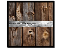 Woodgrain and Knots Instant Download,  Wooden Fence Panels Texture Pack of 6, Rustic Wood Digital Background, Overlay