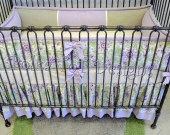 Lavender & Green Baby Bedding
