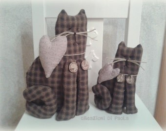 Country-style pair of kittens