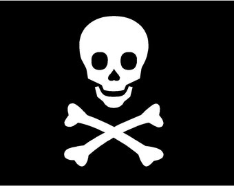 Skull and Crossbones Decal