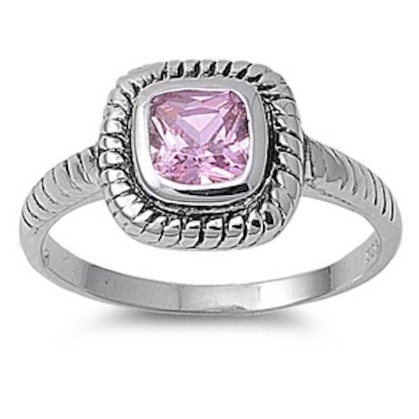 Wedding Engagement Anniversary Ring Bezel Set 071CT Pink