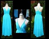Sky Bull dress/ maxi summer dress/long dress/ maxi dress/Halter Maxi DressPlus Size XS - 5XXL