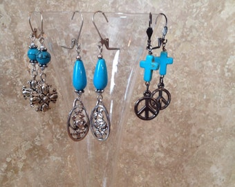 FREE SHIPPING! Turquois earrings collection!***clearance***