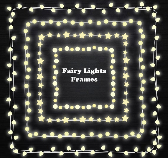 Fairy Lights Clipart, String Lights Clipart, Fairy Lights Frame, Lights  Clipart, Wedding Invitation, Lamp, Personal And Commercial Use From ...