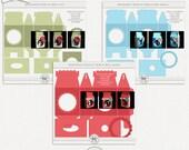 Ornament Display Gable Box Bundle SVG, PSD, PDF +
