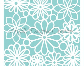 Flower Lace Background Stencil