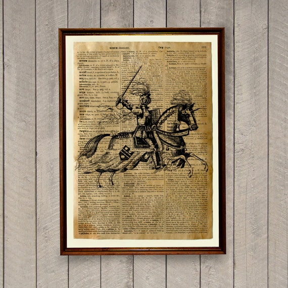 gothic wall decor medieval poster knight print wa156
