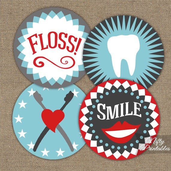 May The Fourth Be With You Party Supplies: Dental Cupcake Toppers Printable Dental Hygienist Cupcake