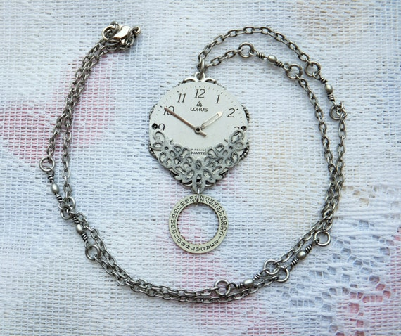 Repurposed Watch Parts Necklace: Set of 1