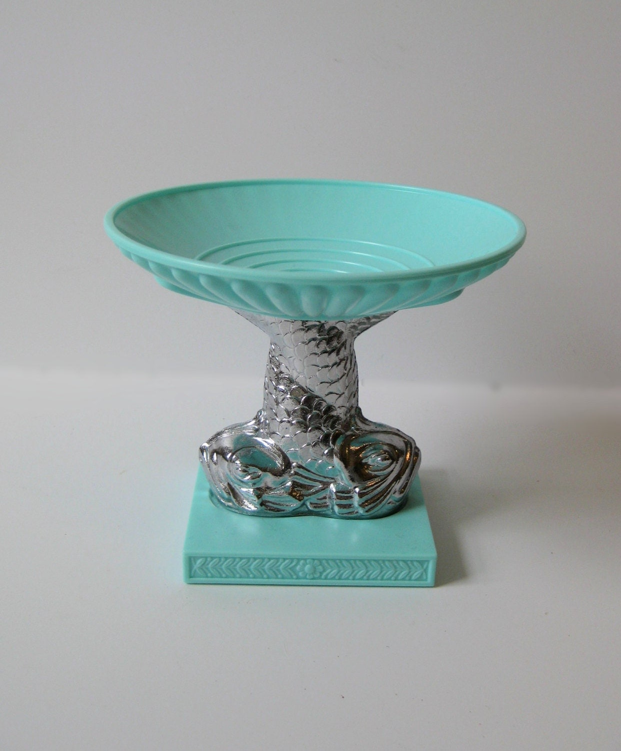 Avon soap dish turquoise bath decor vintage avon beach bath for Bathroom decor etsy