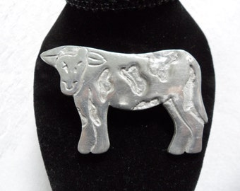 Vintage Holstein Cow Pin Cow Jewelry Figural Brooch Cowgirl Jewelry Country Girl Jewelry Farmers Wife Livestock Jewelry Cattle Ranchwear