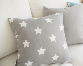 Cotton Fabric Star Gray By The Yard