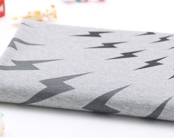 Interlock Knit Cotton Fabric Gray