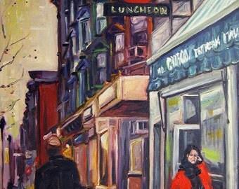 Luncheon: A Hoboken Street Scene