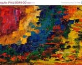 SALE Impromptu; original abstract oil painting on canvas board, 7x10 inches
