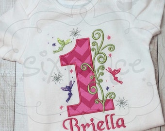 Fairy Birthday | Shirt or Bodysuit | Custom Embroidered and Appliqued | Personalized | Fairy Princess Outfit | By Sixpence